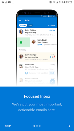Outlook for Android tutorial screenshot