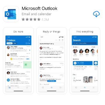 Microsfot Outlook on the Apple App Store